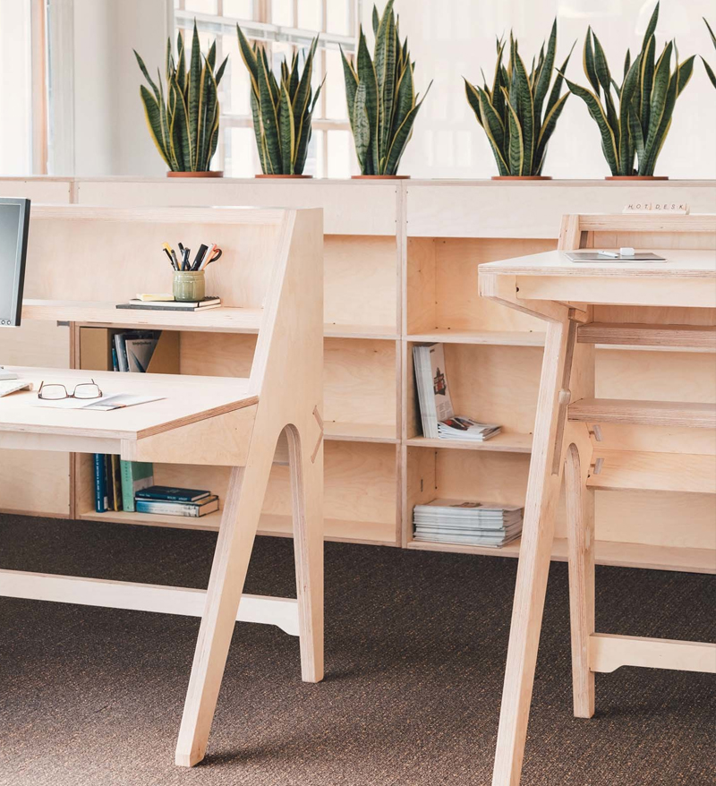 Birch Plywood Office Desks